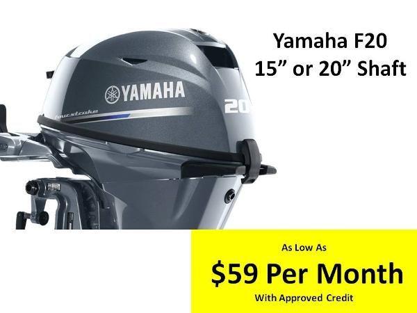 2017 Yamaha F20 ELECTRIC START 20 HP