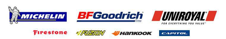 We proudly carry products from Michelin®, BFGoodrich®, Uniroyal®, Firestone, Fuzion, Hancook, and Capitol.
