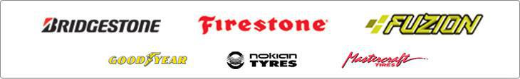 We carry products from Bridgestone, Firestone, Fuzion, Goodyear, Nokian, and Mastercraft.