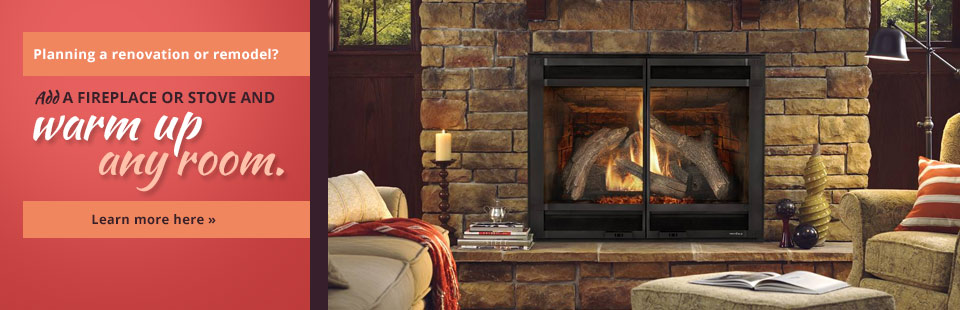 Add a fireplace or stove and warm up any room! Click here for more information.