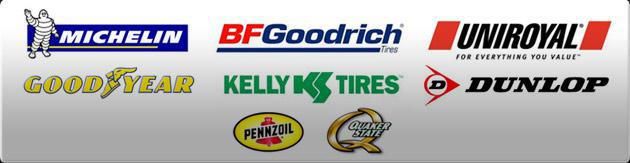 We carry products from Michelin®, BFGoodrich®, Uniroyal®, Goodyear, Kelly, Dunlop, Pennzoil, and Quaker State.