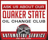 Ask us about our Quaker State Oil Change Club.