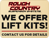 We offer Lift Kits! Contact Us for details