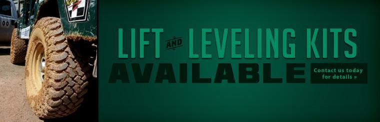 Lift and leveling kits are available! Contact us today for details.