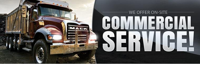 We offer on-site commercial service! Click here to contact us.