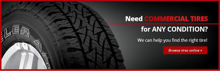 Need commercial tires for any condition? We can help you find the right tire. Contact us today.''