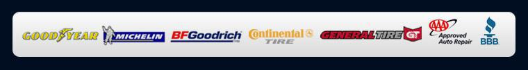 We carry products from Goodyear, Michelin®, BFGoodrich®, Continental, and General Tire. BBB, AAA