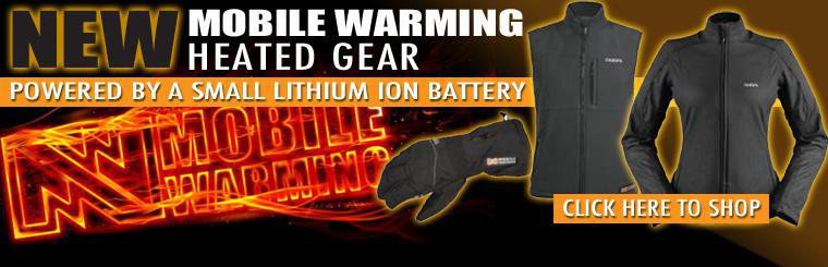 Mobile Warming Heated Apparel at Twigg Cycles