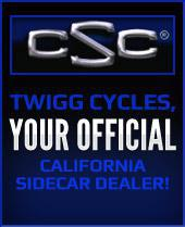 Twigg Cycles, your official California Sidecar Dealer!