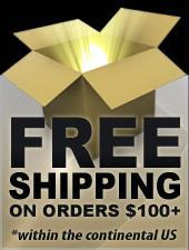 Free Shipping on orders $100+ *within the continental US