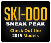 Ski-Doo Sneak Peak. Check out the 2015 models.