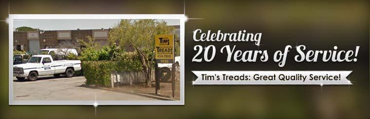 Tim's Treads is celebrating 20 years of service!