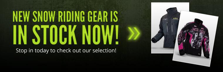 New snow riding gear is in stock now! Stop in today to check out our selection!