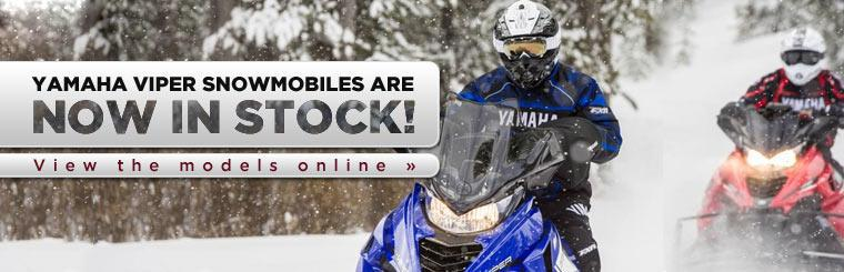 Yamaha Viper snowmobiles are now in stock!