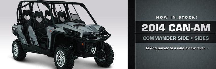 The 2014 Can-Am Commander Side x Sides are now in stock!