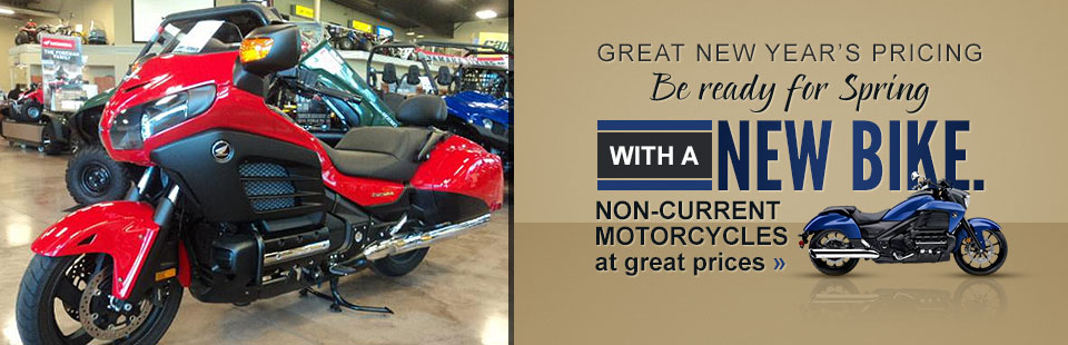 New Year's Pricing: Be ready for spring with a new bike. Click here to view our selection.