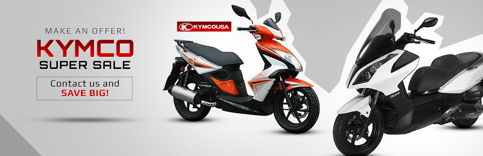 KYMCO Super Sale: Contact us and save big!