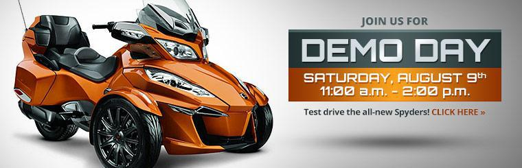 Join us for Demo Day Saturday, August 9th and test drive the all-new Spyders!