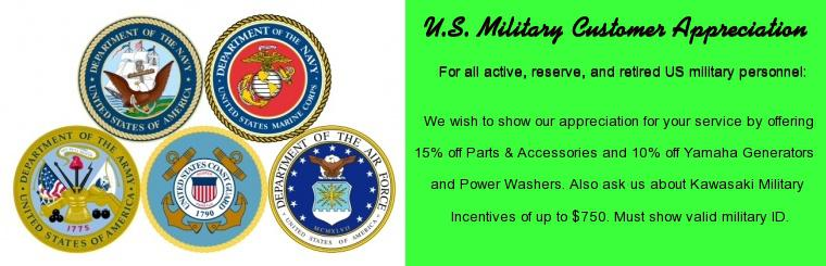 U.S. MILITARY CUSTOMER APPRECIATION OFFER