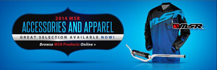 Click here to browse 2014 MSR accessories and apparel.