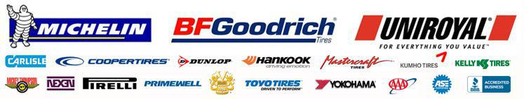 We carry products from Michelin®, BFGoodrich®, Uniroyal®, Carlisle, CooperTires, Dunlop, Hankook, Mastercraft, Kumho, Kelly, Mickey Thompson, Nexen, Pirelli, Primewell, Toyo, and Yokohama. We are a member of the AAA, ASE, and an Accredited Business of the Better Business Bureau.