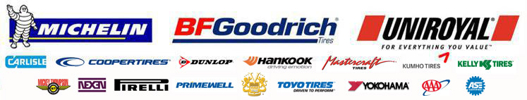 We carry products from Michelin®, BFGoodrich®, Uniroyal®, Carlisle, CooperTires, Dunlop, Hankook, Mastercraft, Kumho, Kelly, Mickey Thompson, Nexen, Pirelli, Primewell, Toyo, and Yokohama. We are a member of the AAA and ASE.