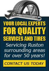 Your local experts for quality services and tires! Servicing Ruston surrounding areas for over 50 years!