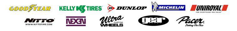 We carry products from Goodyear, Kelly, Dunlop, Michelin®, Uniroyal®, Nitto, Nexen, Ultra, Gear Alloy, and Pacer.