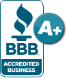 BBB A Plus Accredited Business.