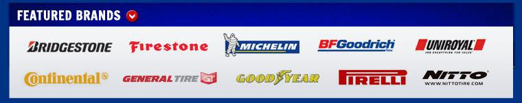 We carry products from Bridgestone, Firestone, Michelin®, BFGoodrich®, Uniroyal®, Continental, General, Goodyear, Pirelli, and Nitto.