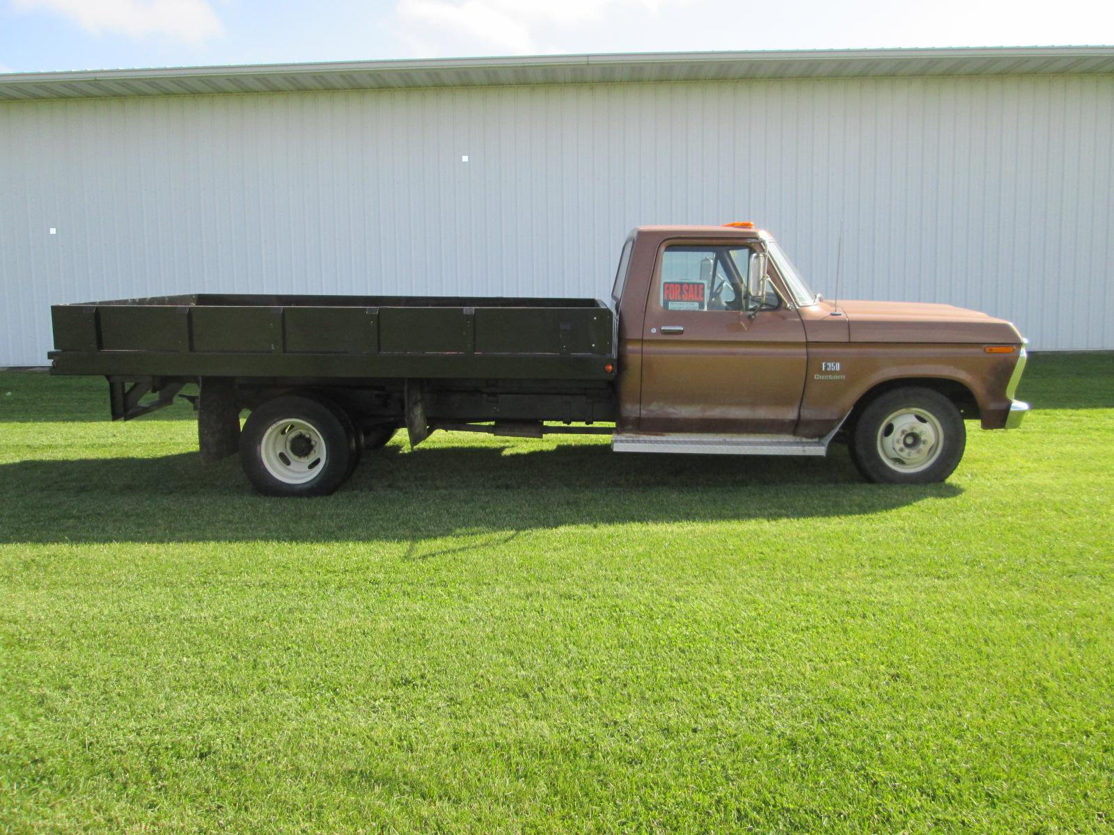 1973 Ford F350 Dually Flatbed Dump Box for sale in LeMars IA