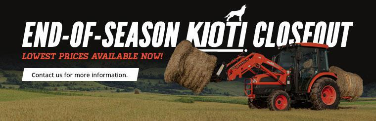 End-of-Season Kioti Closeout: Contact us for more information.