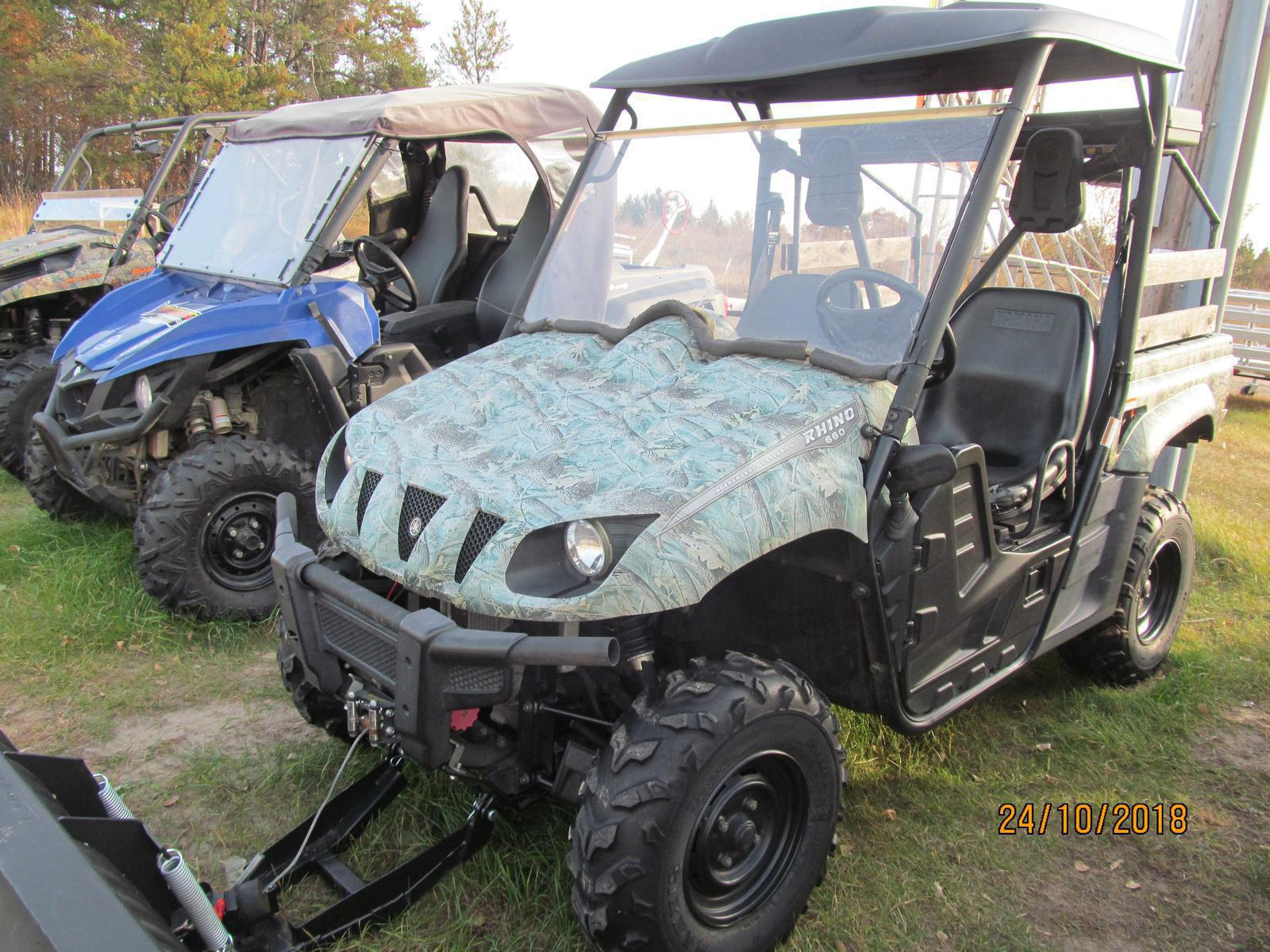 2007 Yamaha Rhino 660 4wd Hunter For Sale In Baxter Mn Brothers Fuel Filter Location Used Sxs 040
