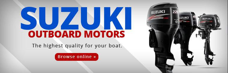 Suzuki Outboard Motors: The highest quality for your boat! Click here to browse outboard motors online.
