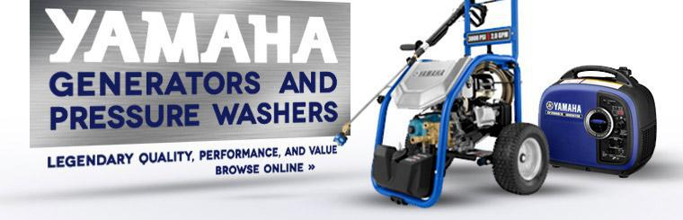Click here to browse Yamaha generators and pressure washers.