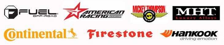 We carry products from Fuel Off-Road, American Racing, Mickey Thompson, MHT Luxury Alloys, Continental, Firestone and Hankook.