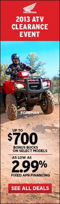 2013 ATV Clearance Event
