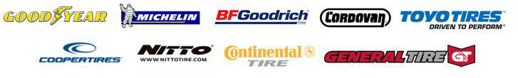 We carry products from Goodyear, Michelin®, BFGoodrich®, Cordovan, Toyo, Cooper, Nitto, Continental, and General.