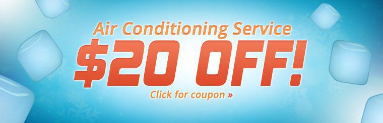 Click here to print your coupon for $20 off air conditioning service!
