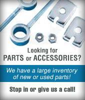 Looking for parts or accessories? We have a large inventory of new or used parts! Stop in or give us a call!
