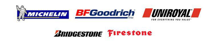 We carry products from Michelin®, BFGoodrich®, Uniroyal®, Bridgestone, and Firestone,.