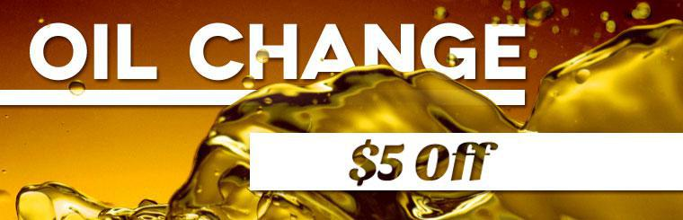 Get $5 off an oil change! Click here to print the coupon.