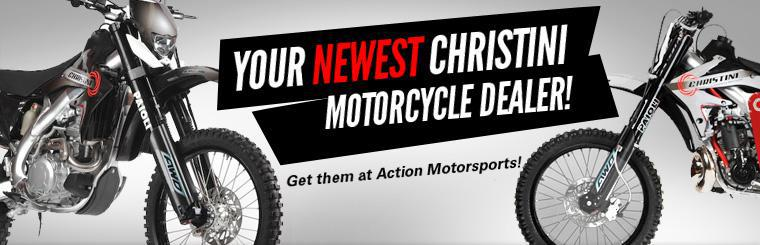 Your newest Christini Motorcycle dealer! Get them at Action Motorsports! Click here to view our selection.