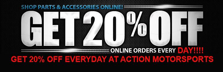 Shop parts and accessories online! Get 20% off online orders every Monday! Just use the promo code MONMADNESS at checkout!
