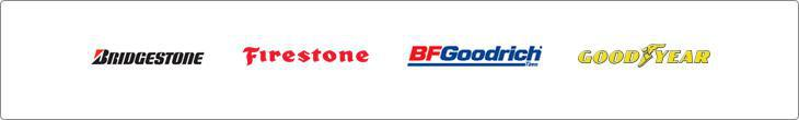 We carry products from Bridgestone, Firestone, BFGoodrich®, and Goodyear.