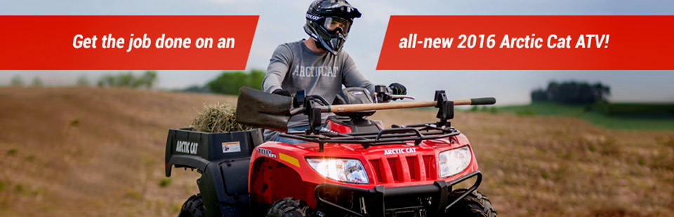 Get the job done on an all-new 2016 Arctic Cat ATV!
