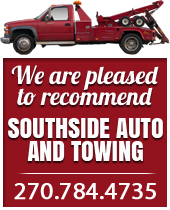 We are pleased to recommend Southside Auto and towing 270-784-4735