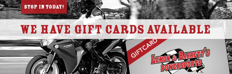 We have gift cards available! Stop in today!
