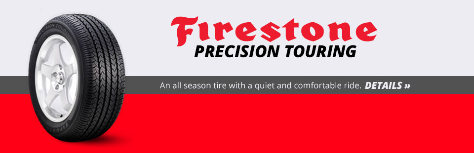 The Firestone Precision Touring is an all season tire with a quiet and comfortable ride! Click here for details.