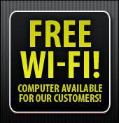 Free Wi-Fi! Computer available for our customers!